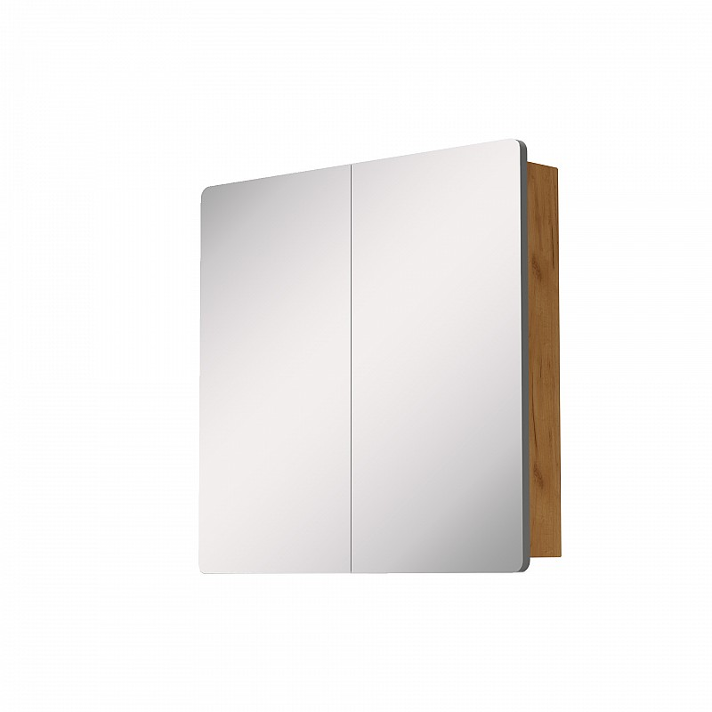 Κρεμαστός Καθρέπτης Μπάνιου Elena με 2 ντουλάπια 61*14.5*65cm 699-02-61-06