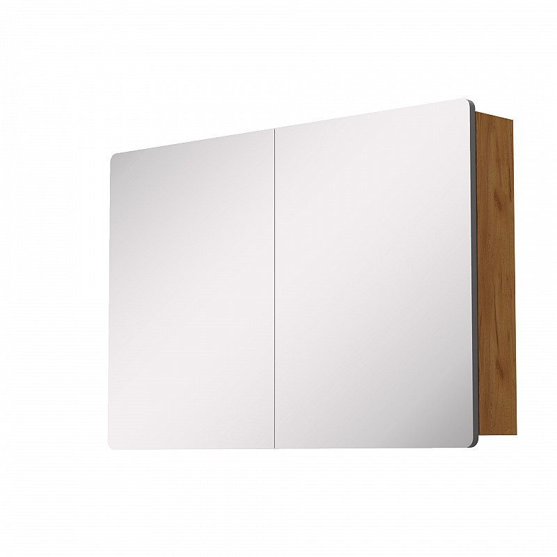 Κρεμαστός Καθρέπτης Μπάνιου Elena με 2 ντουλάπια 98*14.5*65cm 699-02-98-06