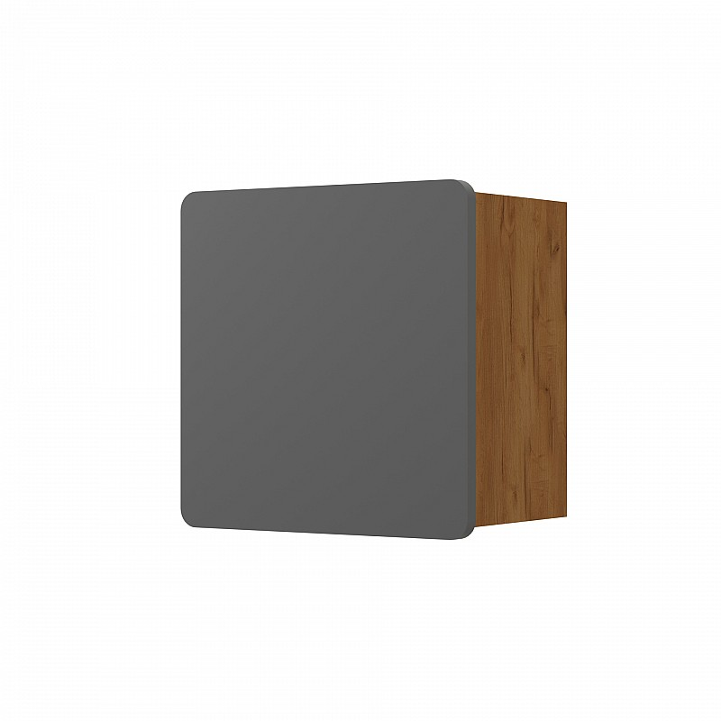 ARKTOS κουτί σύνθεσης 35*22*35cm Καρυδί-Γκρί 699-05-35-06