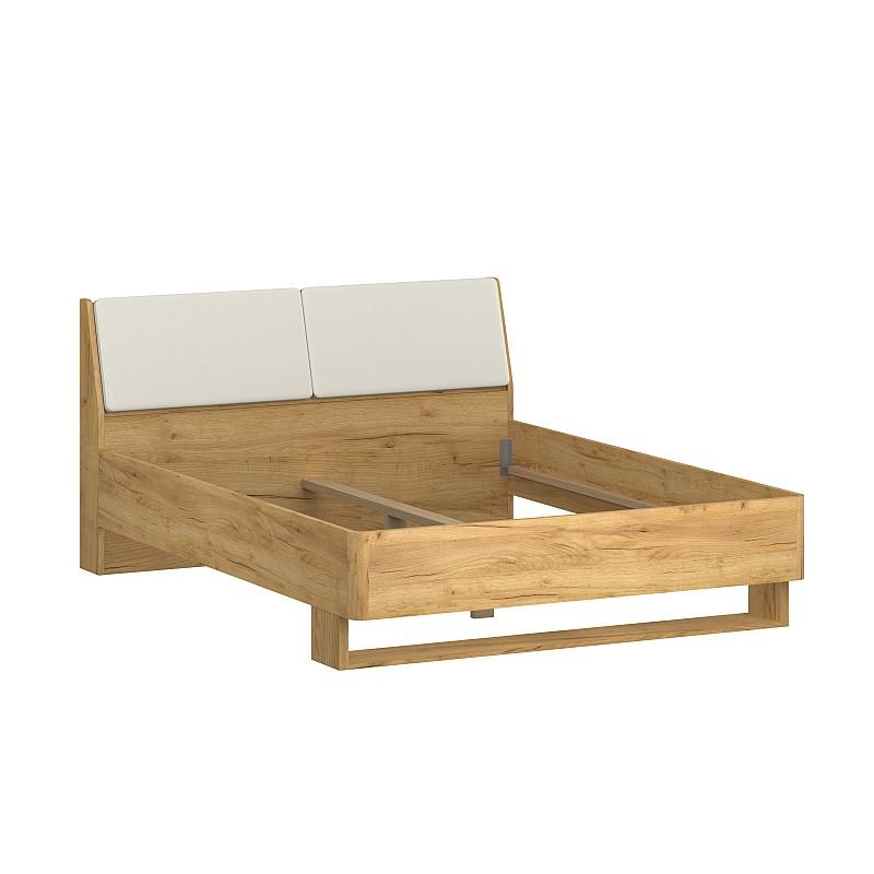 Κρεβάτι Avanti Διπλό Χωρίς Πάτωμα Χρυσός Δρυς-Λευκό 160x200cm TO-AVANTI160