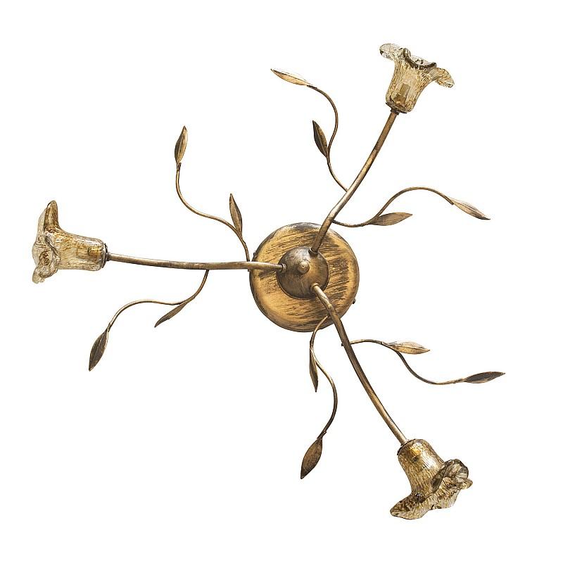 Φωτιστικό Τρίφωτο Οροφής Μεταλλικό Χρυσή Πατίνα G9 Φ60cm TOP-1800-3PP