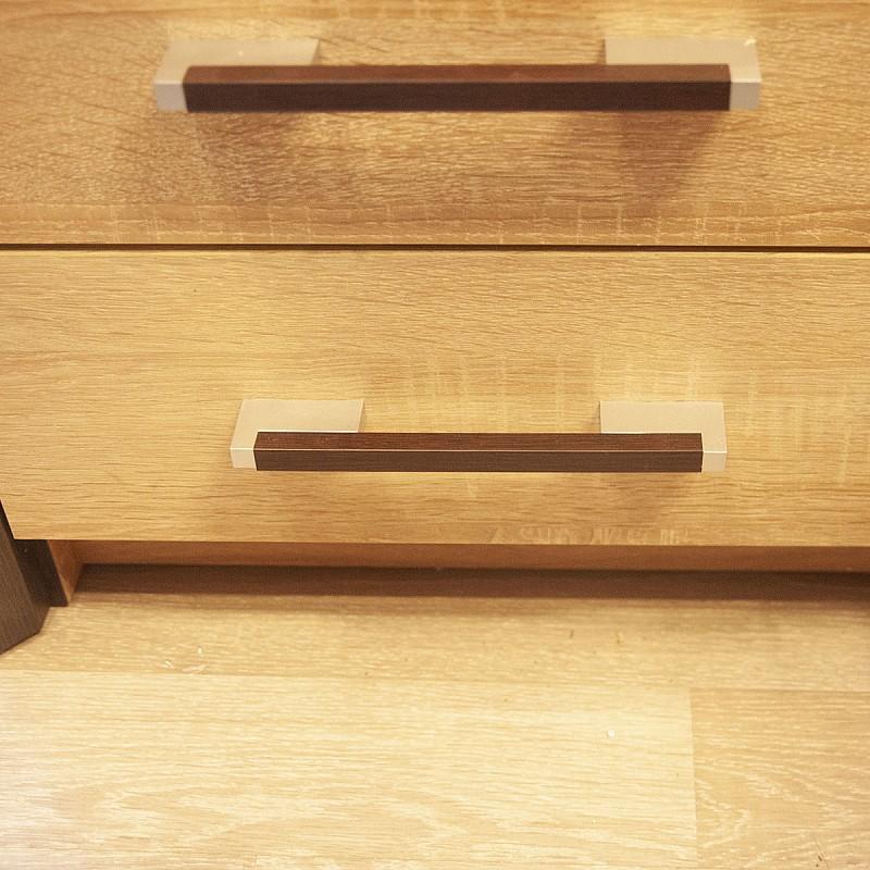 Συρταριέρα Scarlet 80x46x82 με 4 Συρτάρια MDF Διακόσμηση Sonoma-Wenge SO-SCAKOM800