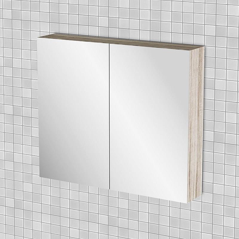 Κρεμαστός Καθρέπτης Μπάνιου Odelia με 2 ντουλάπια 76*14*65cm FIL-000743MIRROR
