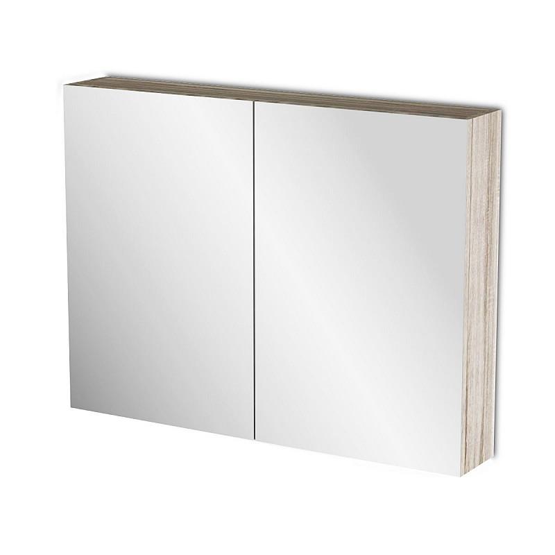 Κρεμαστός Καθρέπτης Μπάνιου Odelia με 2 ντουλάπια 86*14*65cm FIL-000748MIRROR