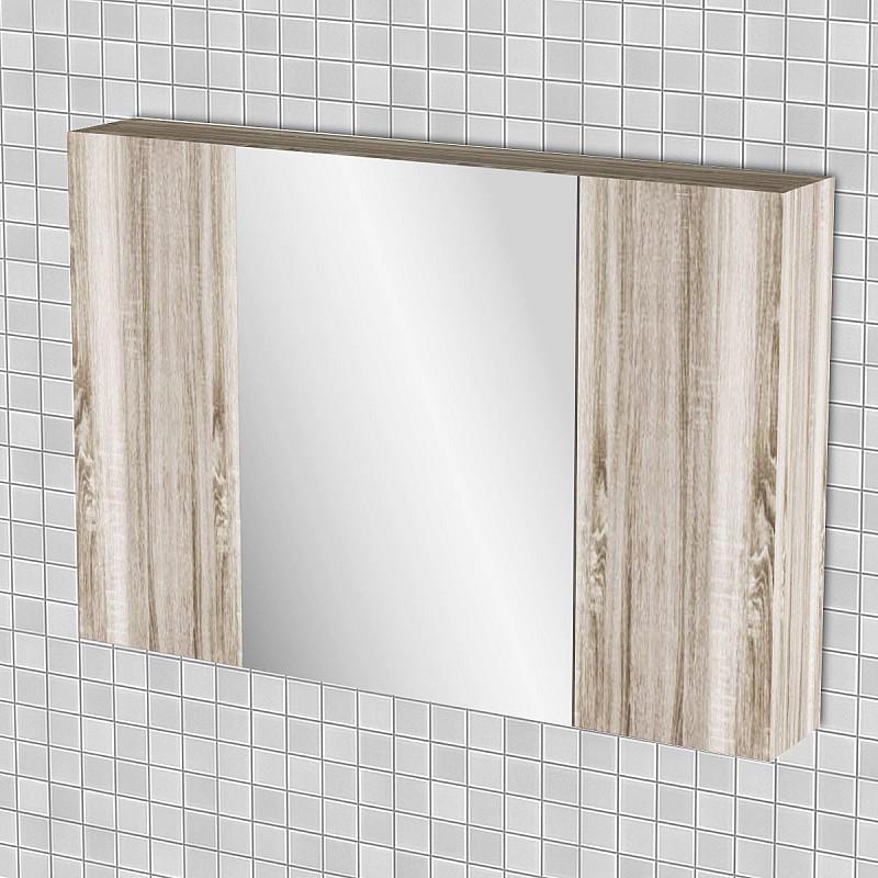 Κρεμαστός Καθρέπτης Μπάνιου Odelia με 3 ντουλάπια 96*14*65cm FIL-000749MIRROR