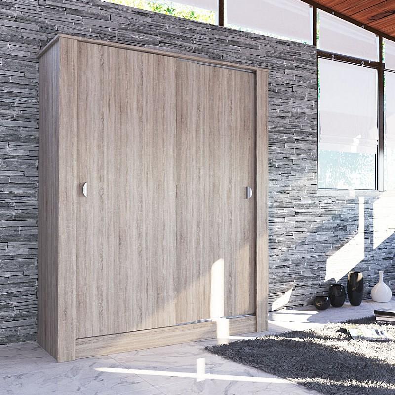 ΝΤΟΥΛΑΠΑ ANTIQUE Με Συρόμενες Πόρτες SONOMA 150x58x190cm IR-ANTIQUE1