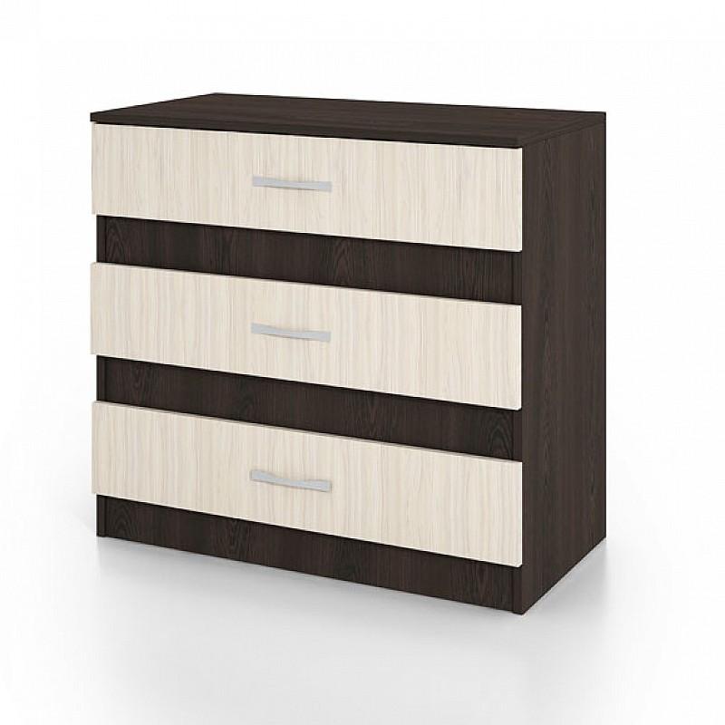 Συρταριέρα CITY3001 με 3 συρτάρια Wenge-Sonoma 80x43,5x76cm IR-CITY3001WEGE