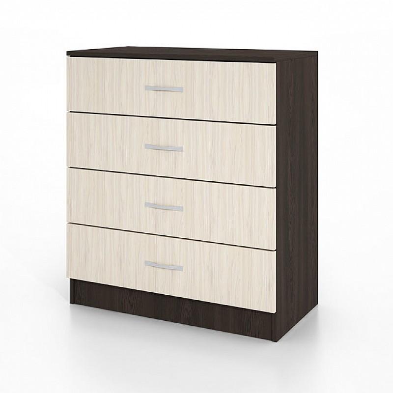 Συρταριέρα CITY3003 με 4 συρτάρια Wenge-Sonoma 80x43,5x91cm IR-CITY3003WEGE