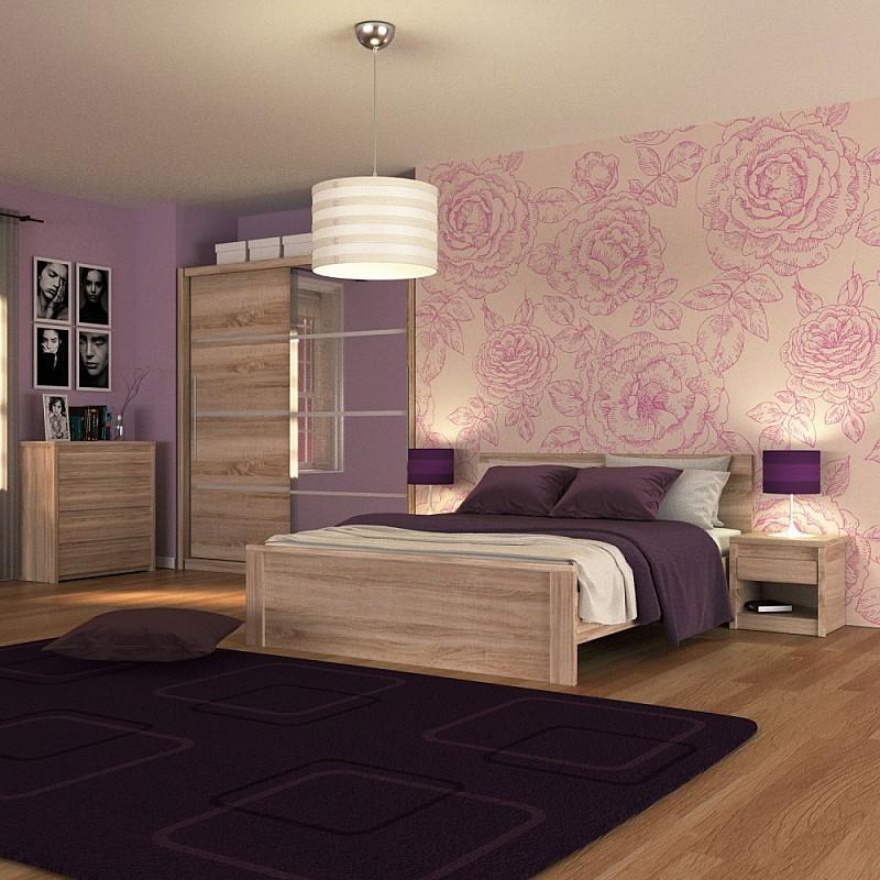 Σετ Κρεβατοκάμαρας 5 τεμ Κρεβάτι Διπλό+Ντουλάπα+Πάτωμα+Συρταριέρα+Κομοδίνο Σονόμα 160x200 NORTONSET5