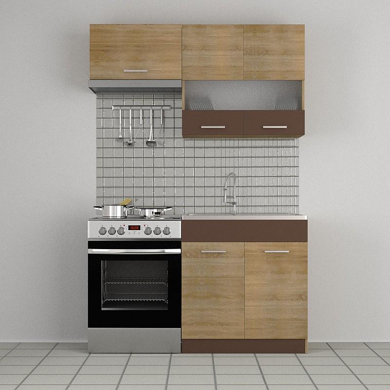 Κουζίνα Alina Σετ 2.2 (δυνατ. επέκτασης) Σονόμα-Μόκκα Σετ 3 κουτιών (2, 2 τρέχ.μέτρα) SO-ALINASET2.2