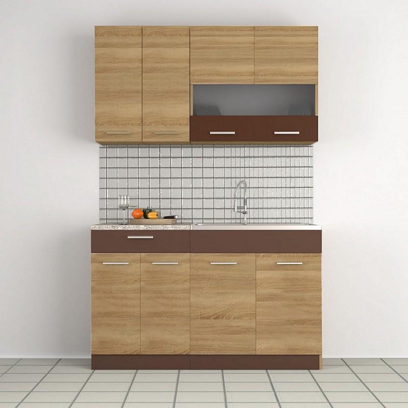 Κουζίνα Alina Σετ 2-8 (δυνατ. επέκτασης) Σονόμα-Μόκκα Σετ4 κουτιών (2.8 τρέχ. Μέτρα) SO-ALINASET2-8