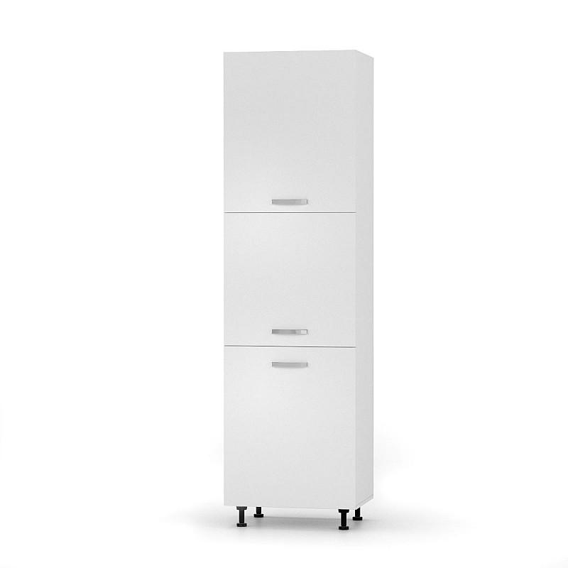 CHARLOTΤE Στήλη Kουζίνας 60x56x213.4εκ με μεταλλικά χερούλια Λευκό SO-CD60RVW