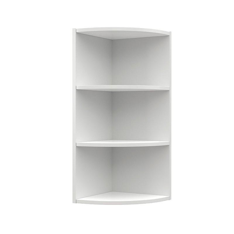 Charlotte Γωνιακό πάνω ντουλάπι με ράφια 28,5x28,5x71,8εκ Λευκό SO-CV30K3