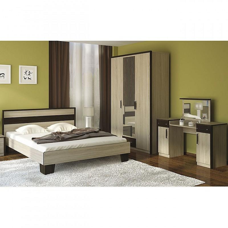 Σετ Κρεβατοκάμαρας 3 τεμ Κρεβάτι Διπλό+Ντουλάπα+Τουαλέτα Σονόμα-Βέγκε 160x200 SO-SCARLETSET4