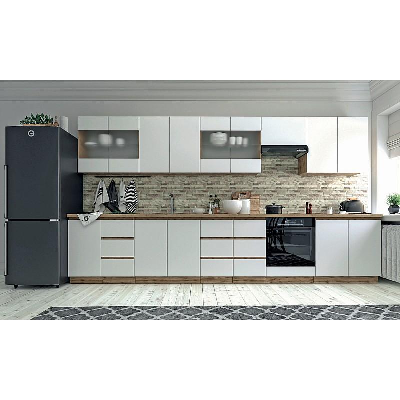 Επιδαπέδιο ντουλάπι κουζίνας Soft Λευκό με βελανιδιά Διαστάσεις 40x46,5x81,5εκ SO-SD40
