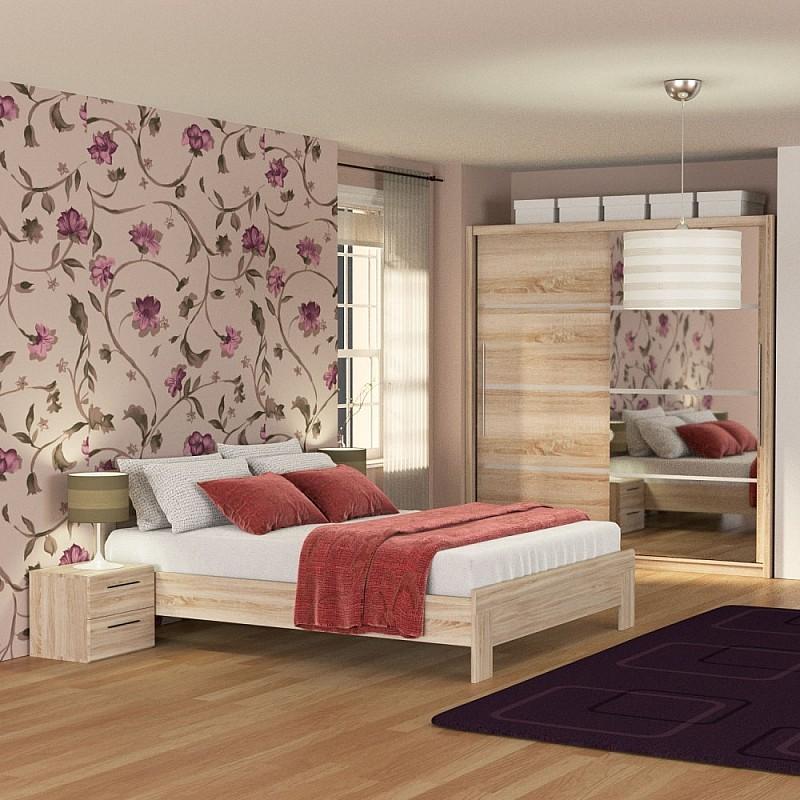 Σετ Κρεβατοκάμαρας SOLO 4 τεμ Κρεβάτι Διπλό+Πάτωμα+Ντουλάπα Σονόμα 160x200 SOLOSET4