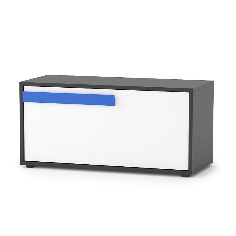 Alex Κουτί Αποθηκευτικό 84x35x39εκ Γραφίτης-Λευκό TO-ALEXDOW