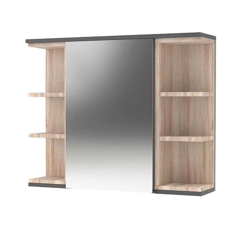 Καθρέπτης Μπάνιου LOTUS Με Ντουλάπι Γραφίτης-Σονόμα 79.6x20x64εκ TO-LOTUSMCGRAFITE