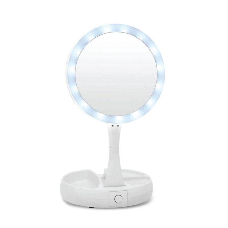 Καθρέφτης 13983 Grundig Με Φωτισμό 14Led Αναδιπλούμενος Λευκός
