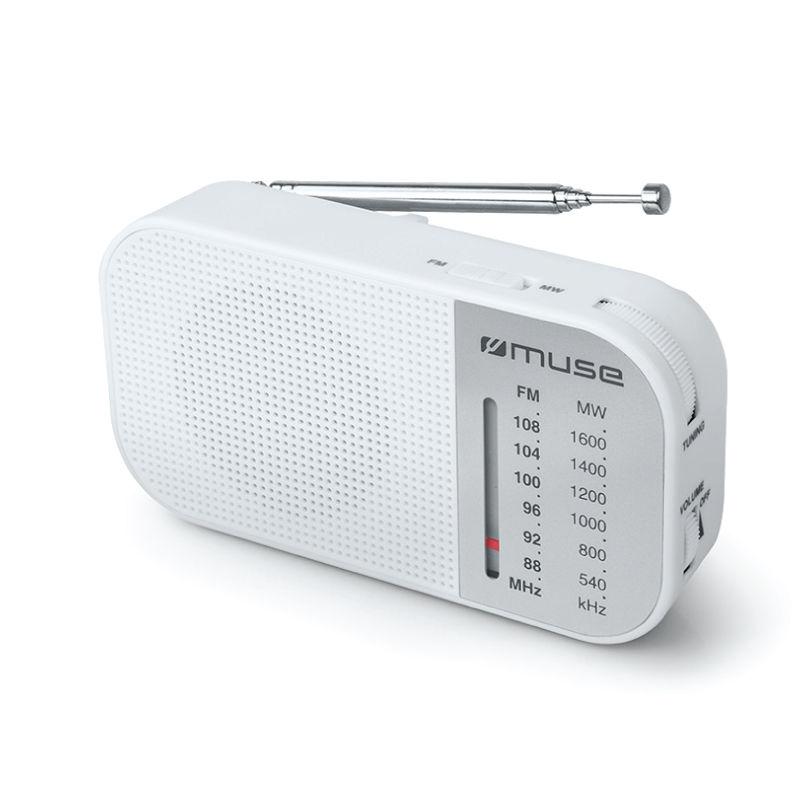 Ραδιόφωνο M-025RW MUSE Μπαταρίας Λευκό Αναλογικό
