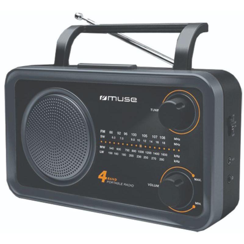 Ραδιόφωνο M-06DS MUSE Μπαταρίας-Ρεύματος Αναλογικό