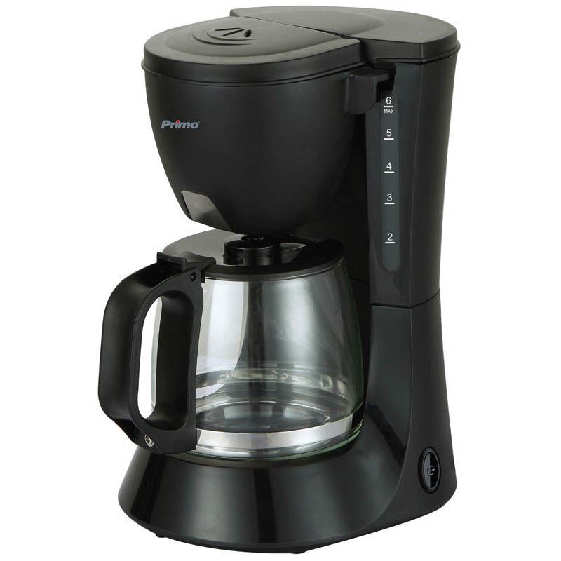 Καφετιέρα φίλτρου PRCM-40249 Primo Eco 0.6L 6φλ Μαύρη-Inox