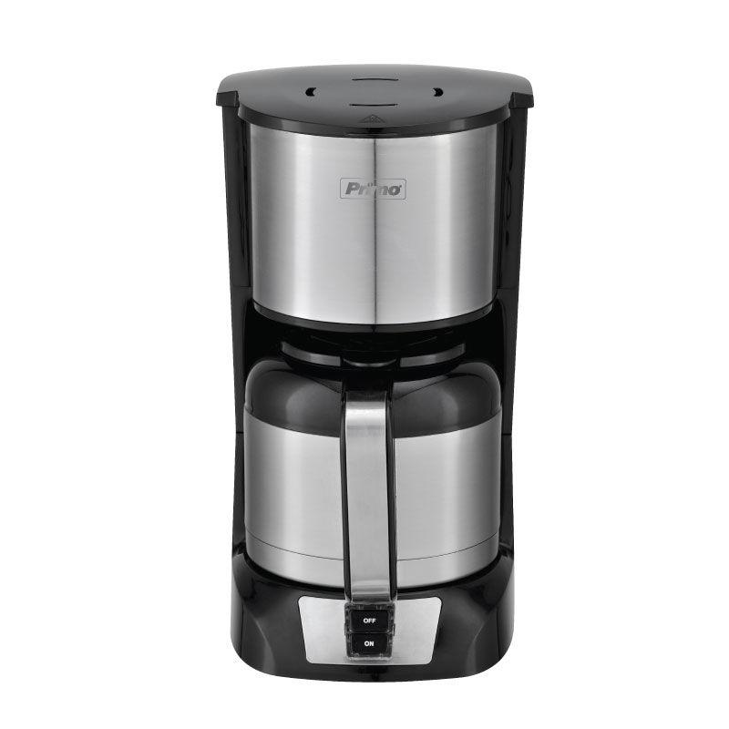 Καφετιέρα φίλτρου PRCM-40293 Primo Eco Με ανοξείδωτη κανάτα θερμός 1.2L 10φλ Μαύρη-Inox