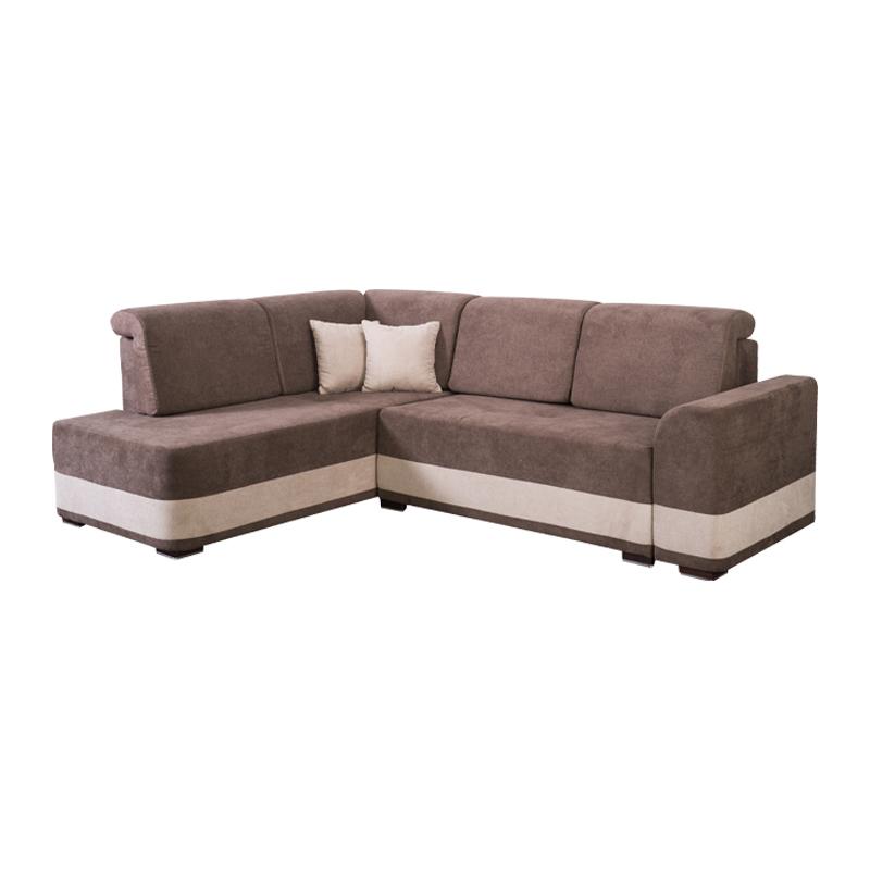 Καναπές αριστερή γωνία Paloma καφέ-μπεζ 277*210*82 Fylliana 21028886