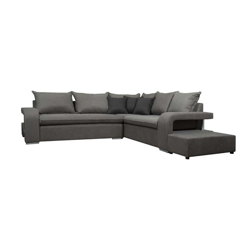 καναπές γωνία δεξιά Prince καφέ με αποσπώμενα μαξιλάρια 256*216*90 Fylliana 831-91-669