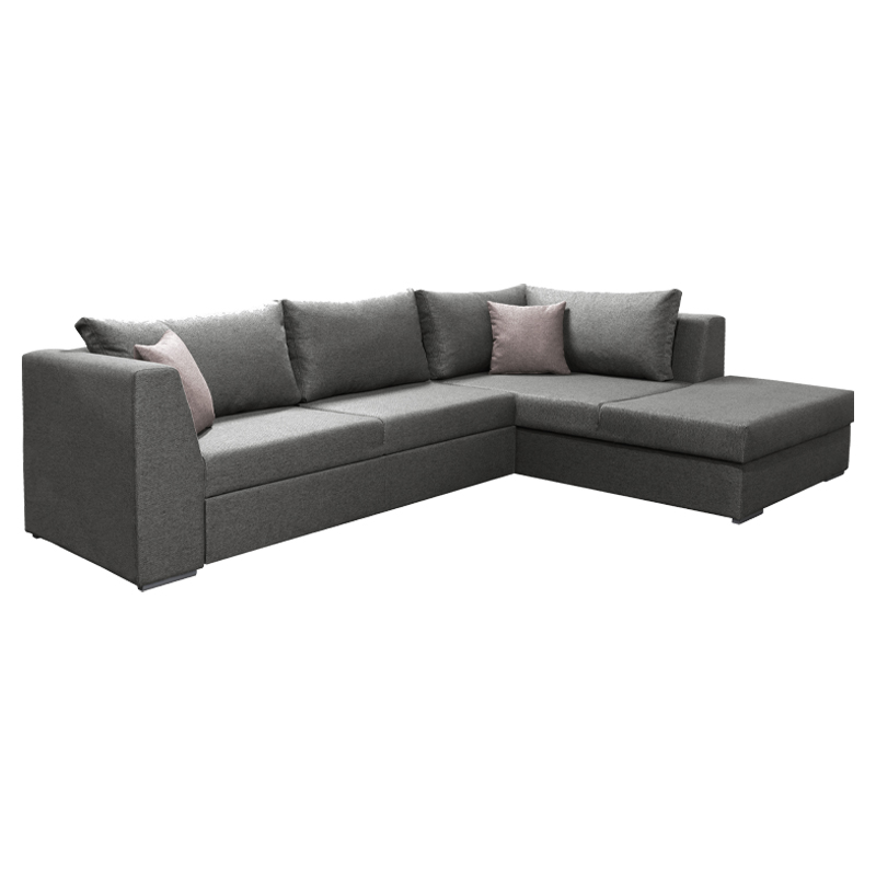 Καναπές γωνία Mex καφέ-ροζ δεξιά 300*198*85 Fylliana 831-121-793