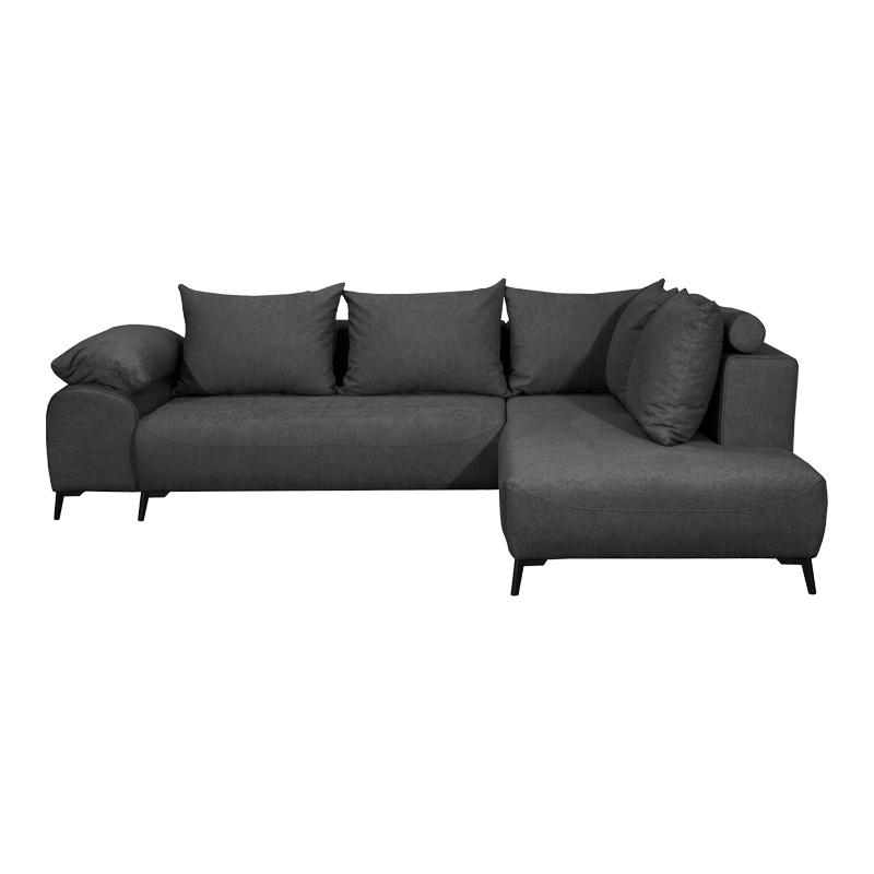 Καναπές γωνία New Bilbao γκρι δεξιά 271*203*80 Fylliana 831-00-737