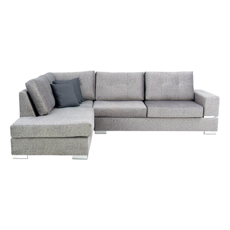 Καναπές Lyon αριστερή γωνία μπεζ με γκρι σκούρα μαξιλάρια 280*220*95 Fylliana 888-121-006