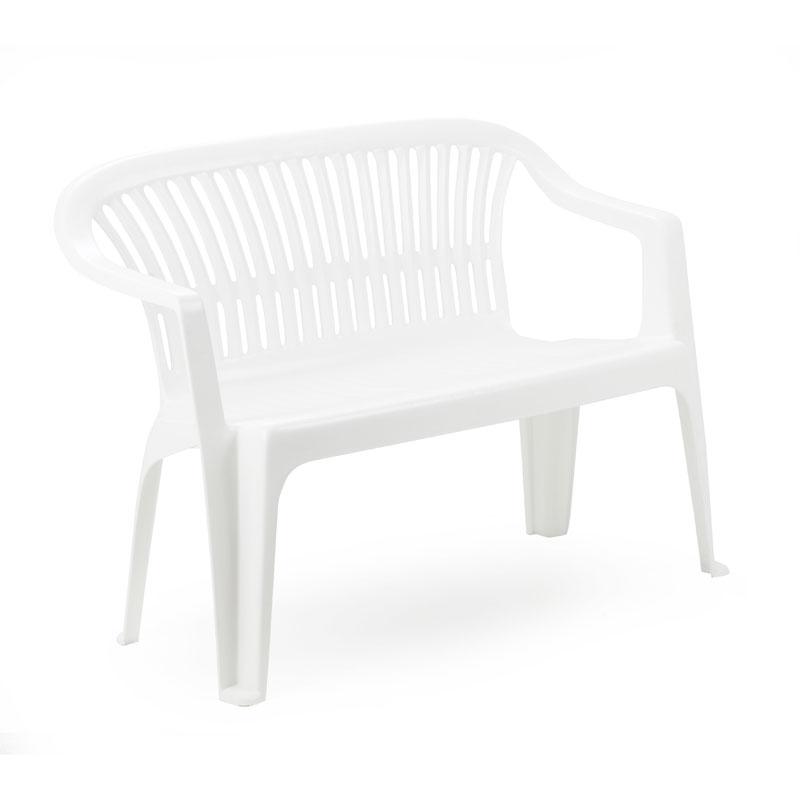 Diva καναπές 2θέσιος 114*55*82 πλαστικός λευκός Fylliana 809-13-304