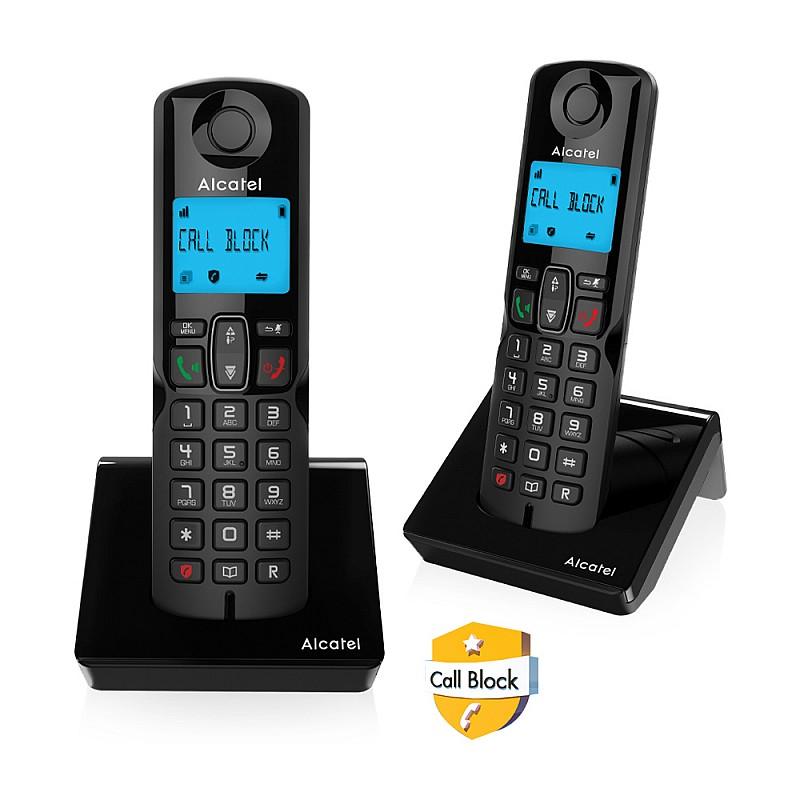 Ασύρματο τηλέφωνο με δυνατότητα αποκλεισμού κλήσεων S250 DUO