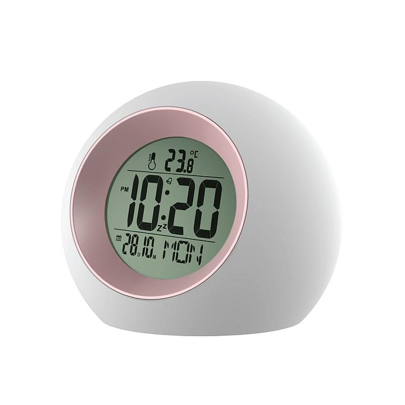 Ψηφιακό ρολόι Λευκό με Ροζ E0325