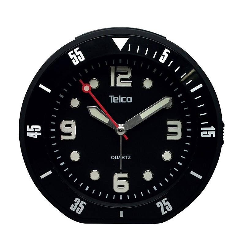 Αναλογικό ρολόι με rubber Μαύρο 2809