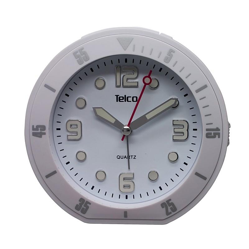 Αναλογικό ρολόι με rubber Λευκό 2809