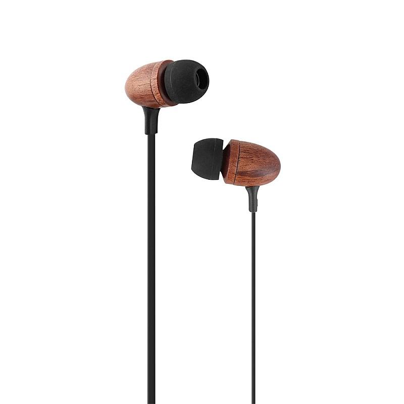 Ακουστικά ψείρες με μικρόφωνο και handsfree Καφέ ESFEELBR