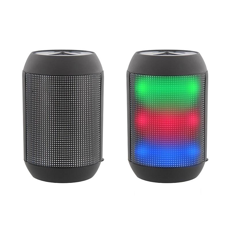 Φωτορυθμικό επαναφορτιζόμενο ηχείο LED Bluetooth 3W HPBLED1