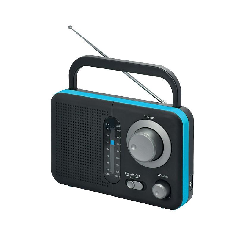 Φορητό ραδιόφωνο μπαταρίας και ρεύματος  Μαύρο με Μπλε TR-412