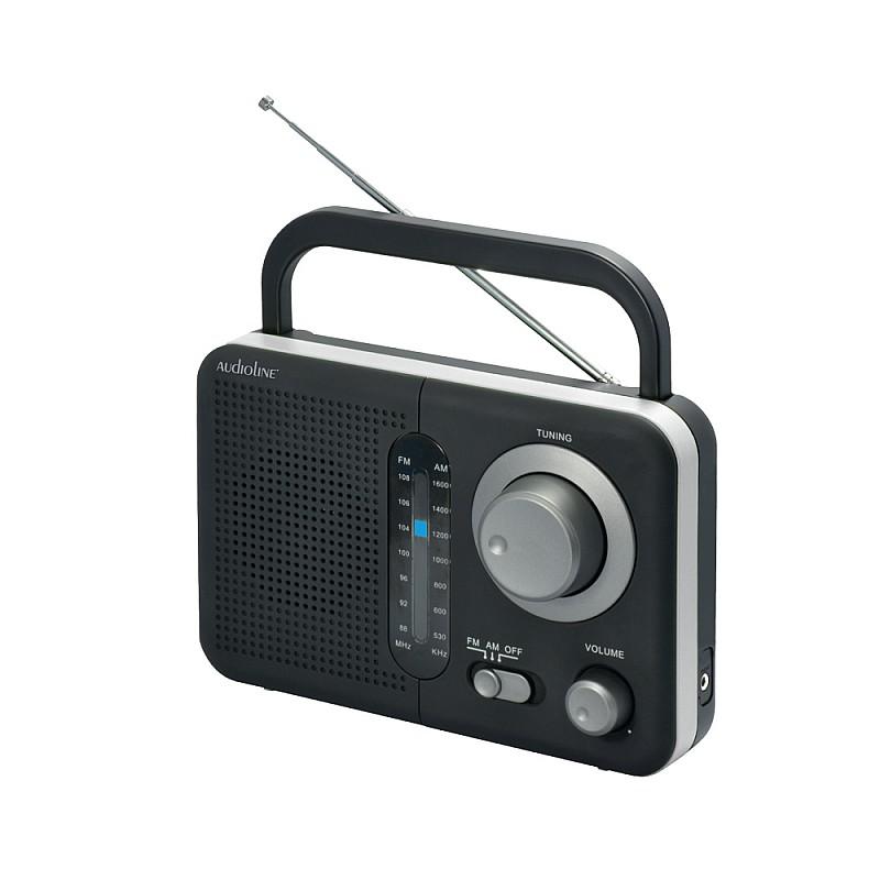 Φορητό ραδιόφωνο μπαταρίας και ρεύματος Μαύρο με Ασημί TR-412