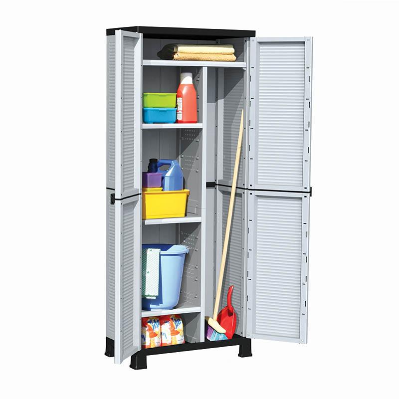 Πλαστική ντουλάπα με χώρισμα και 4 ράφια BPC7000 023517