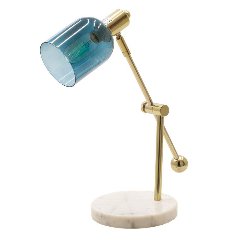 Φωτιστικό Γραφείου Pwl-0932 Pakoworld Χρώμα Μπλε-Χρυσό 17X42X39Εκ