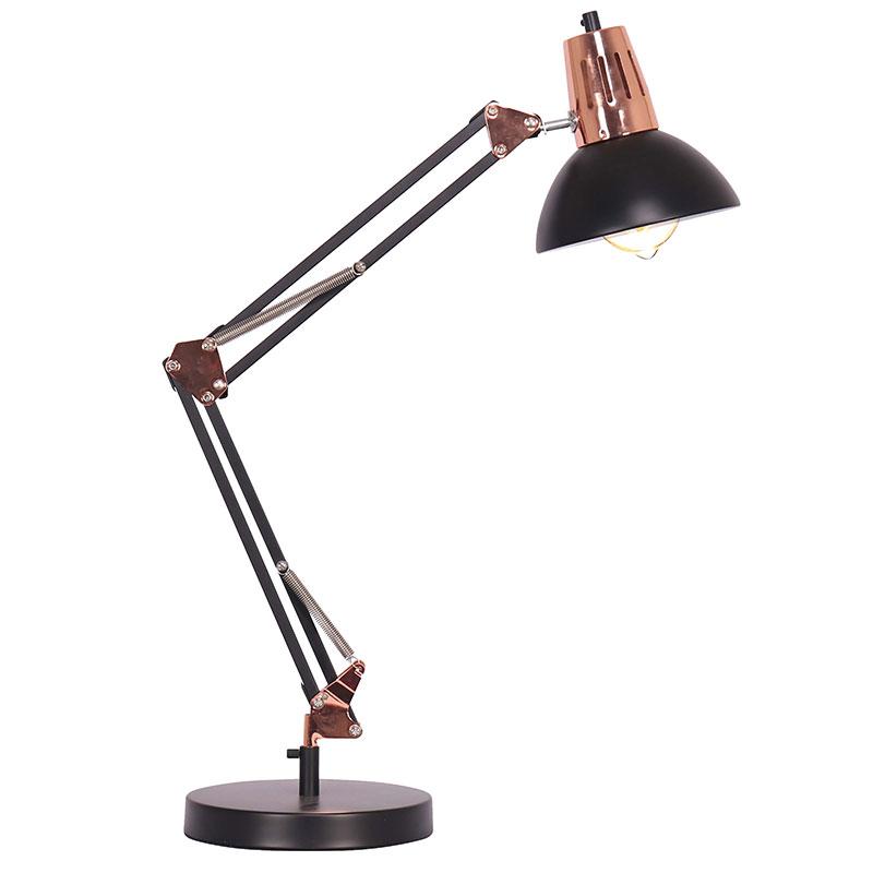 Φωτιστικό Γραφείου Pwl-0934 Pakoworld Χρώμα Μαύρο-Bronze20X40X60Εκ