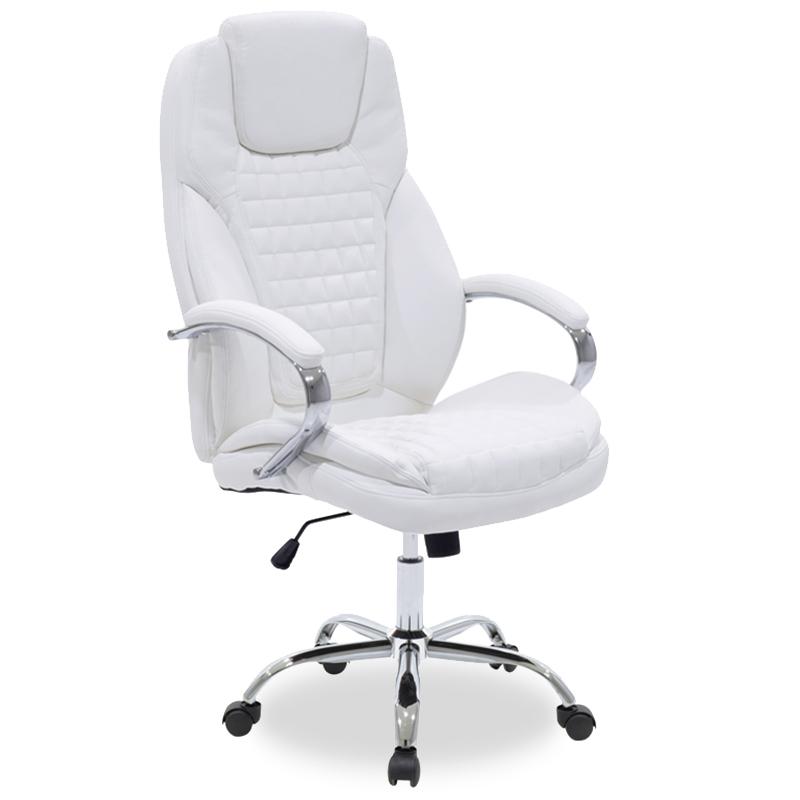 Καρέκλα Γραφείου Διευθυντή Macabo Pakoworld Με Pu Χρώμα Λευκό