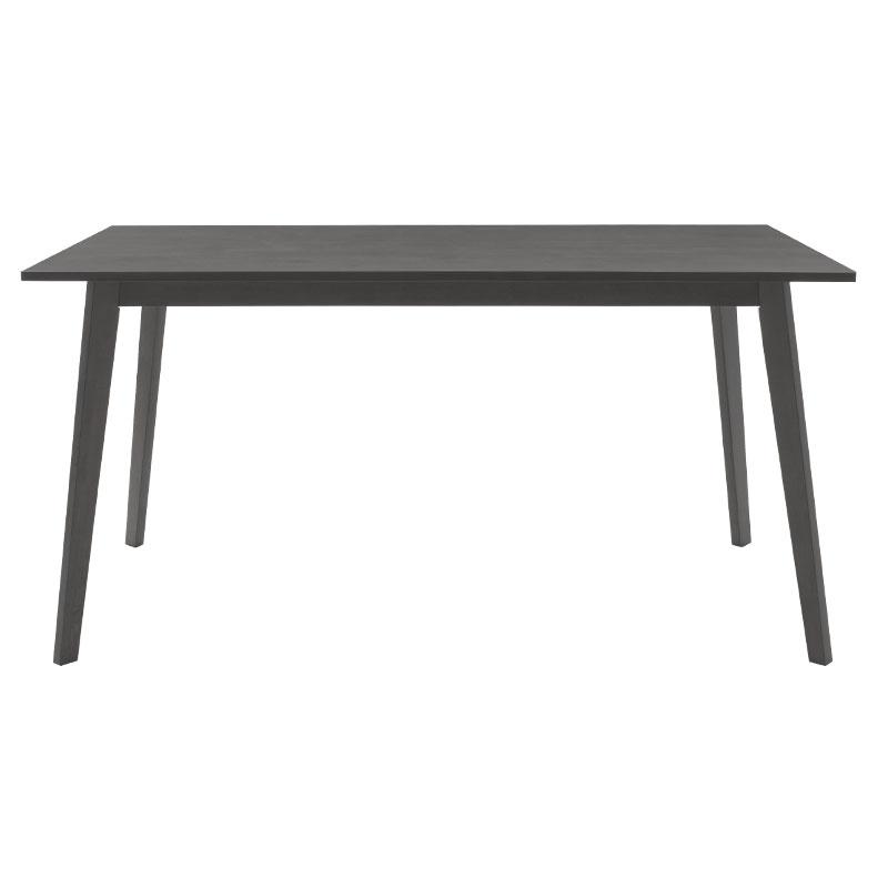 Τραπέζι Benson Pakoworld Mdf Με Καπλαμά Χρώμα Rustic Grey 150X90X75Εκ