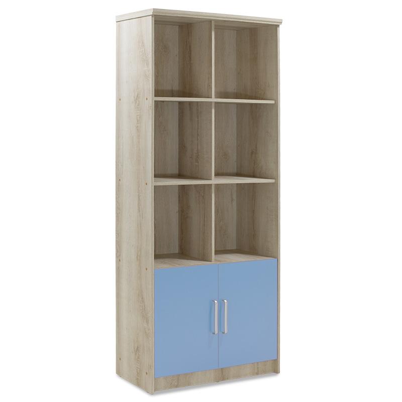 Βιβλιοθήκη Παιδική Σύνθετη Looney Pakoworld Χρώμα Castillo-Μπλε 80,5X36,5X183,5Εκ