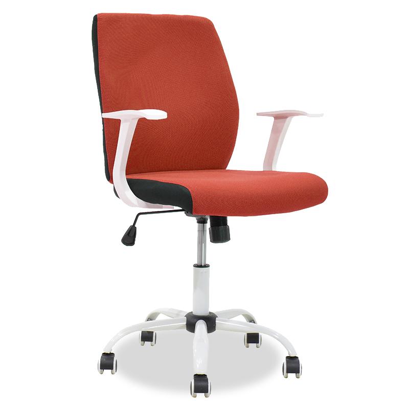 Καρέκλα Γραφείου Εργασίας Memory Pakoworld Με Ύφασμα Κεραμιδί-Λευκό