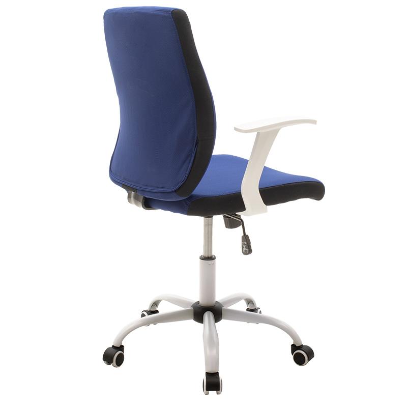Καρέκλα Γραφείου Εργασίας Memory Pakoworld Ύφασμα Μπλε-Λευκό