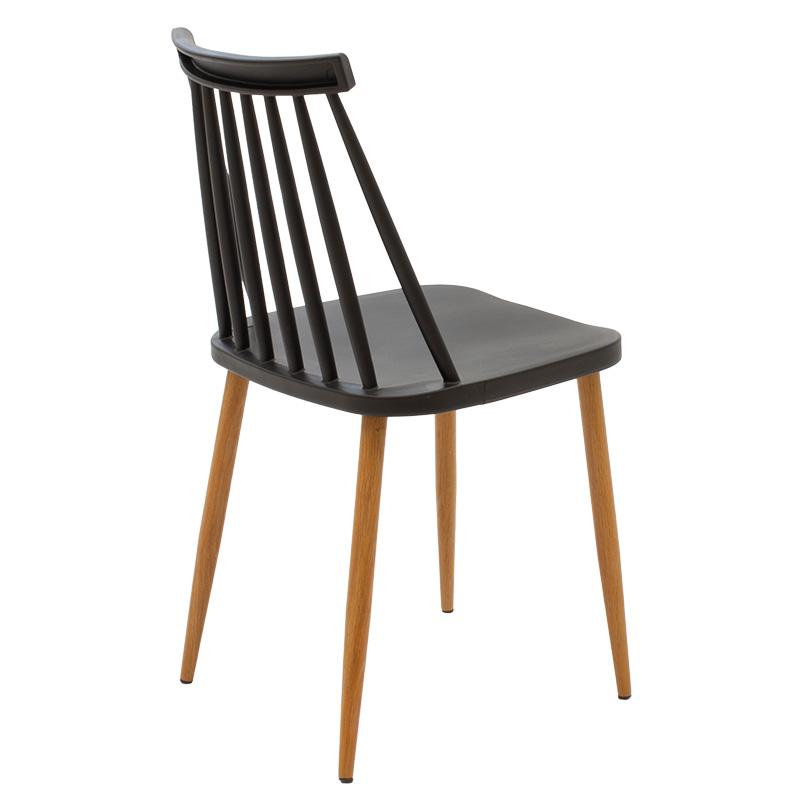 Καρέκλα Aurora Pakoworld Pp Χρώμα Μαύρο - Φυσικό